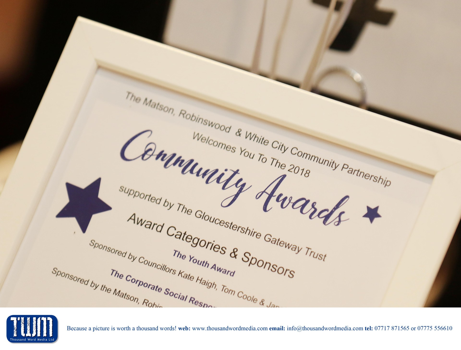 The Matson, Robinswood & White City Community Partnership 2018 Community Awards supported by The Gloucestershire Gateway Trust - 27.1.2018 Picture by Antony Thompson - Thousand Word Media, NO SALES, NO SYNDICATION. Contact for more information mob: 07775556610 web: www.thousandwordmedia.com email: antony@thousandwordmedia.com The photographic copyright (© 2017) is exclusively retained by the works creator at all times and sales, syndication or offering the work for future publication to a third party without the photographer's knowledge or agreement is in breach of the Copyright Designs and Patents Act 1988, (Part 1, Section 4, 2b). Please contact the photographer should you have any questions with regard to the use of the attached work and any rights involved.
